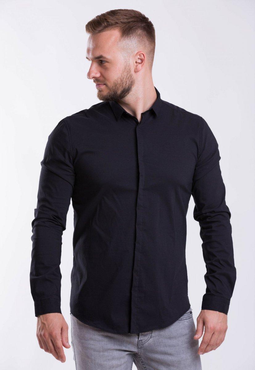 Мужская рубашка Trend Collection 3414-7 Черный