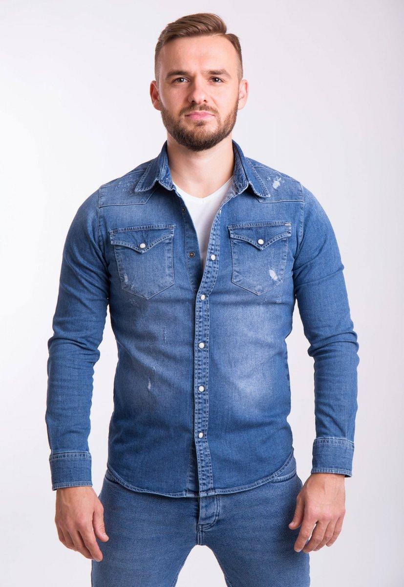 Рубашка INTEGRAL 6573 Синий джинс