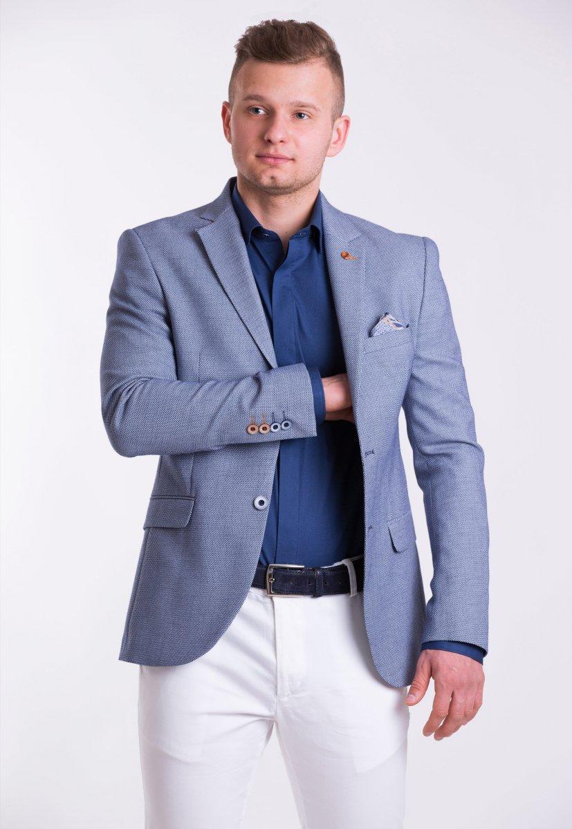 Пиджак Trend Collection TJK-06 Синий + серый меланж