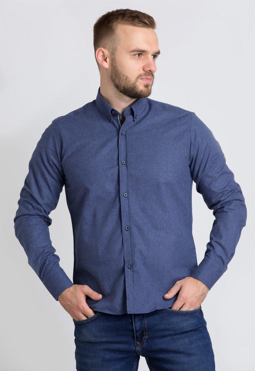 Рубашка Trend Collection U02-1001-20 Синий+голубой