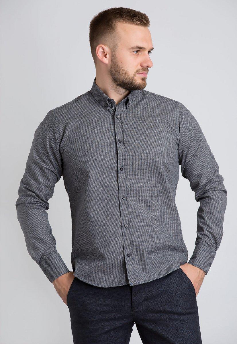 Рубашка Trend Collection U02-1001-20 Бежевый+синий