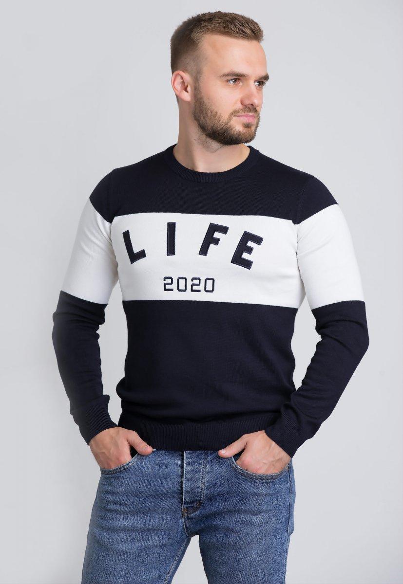 Свитер Trend Collection 1614 Синий+белый