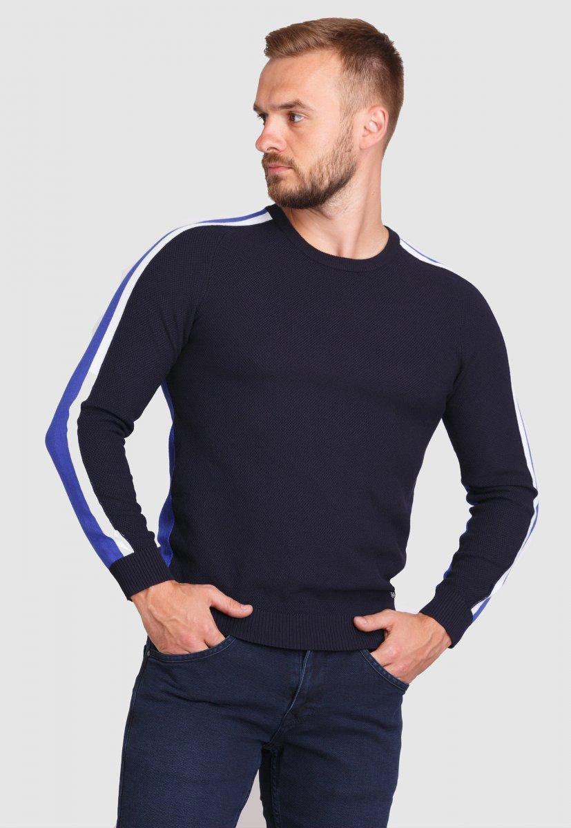 Свитер Trend Collection 99121 Синий+белый