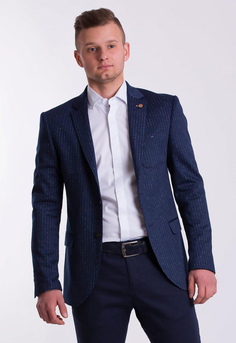 Пиджак TREND TJK-04 Синий + полоска