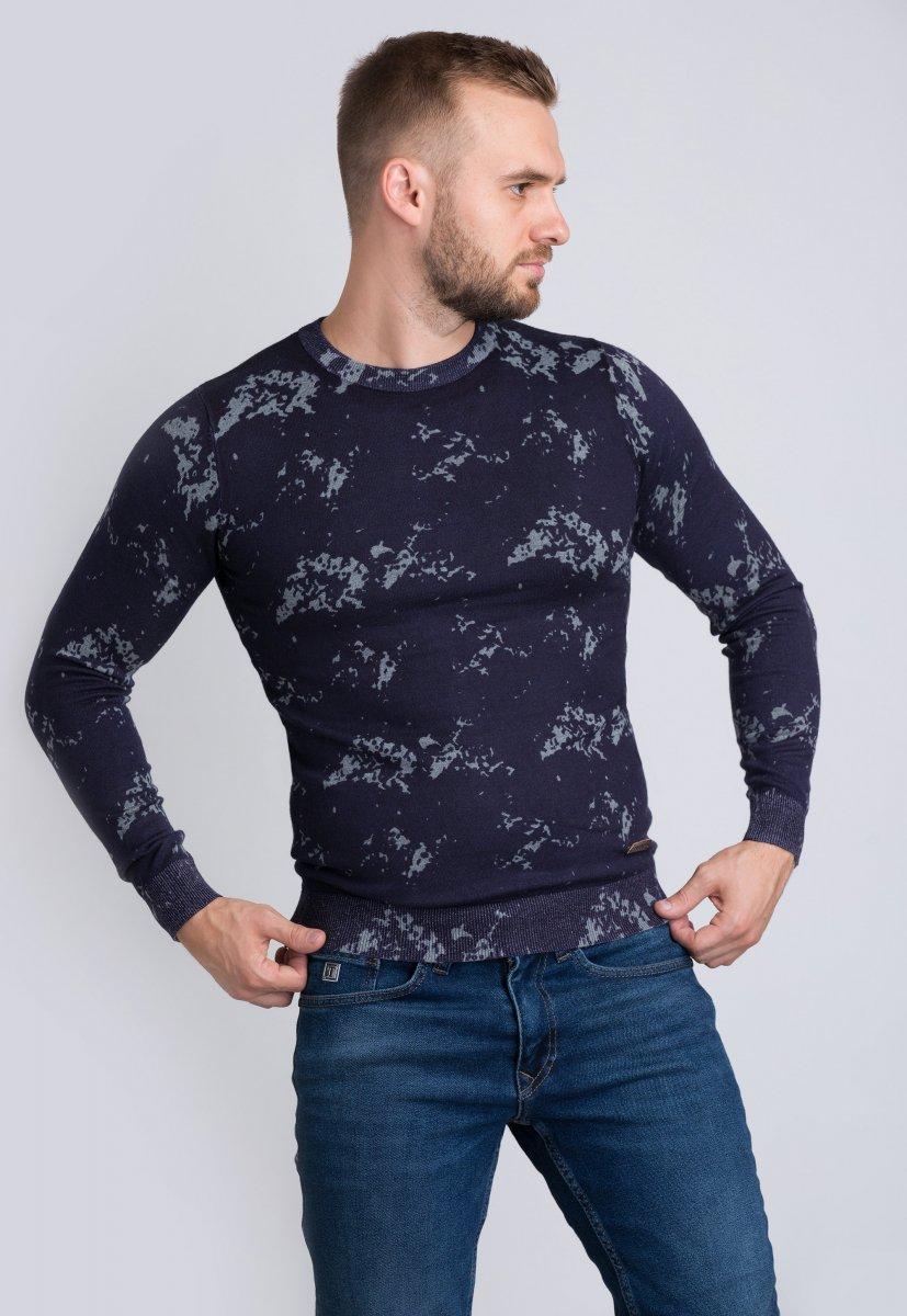 Свитер Trend Collection 98132 Синий+серый
