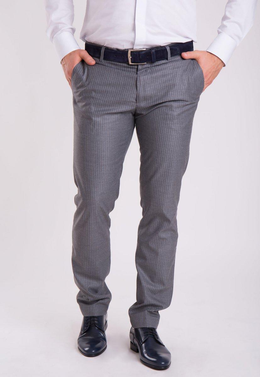 Брюки Trend Collection G838-2 Серый + полоска