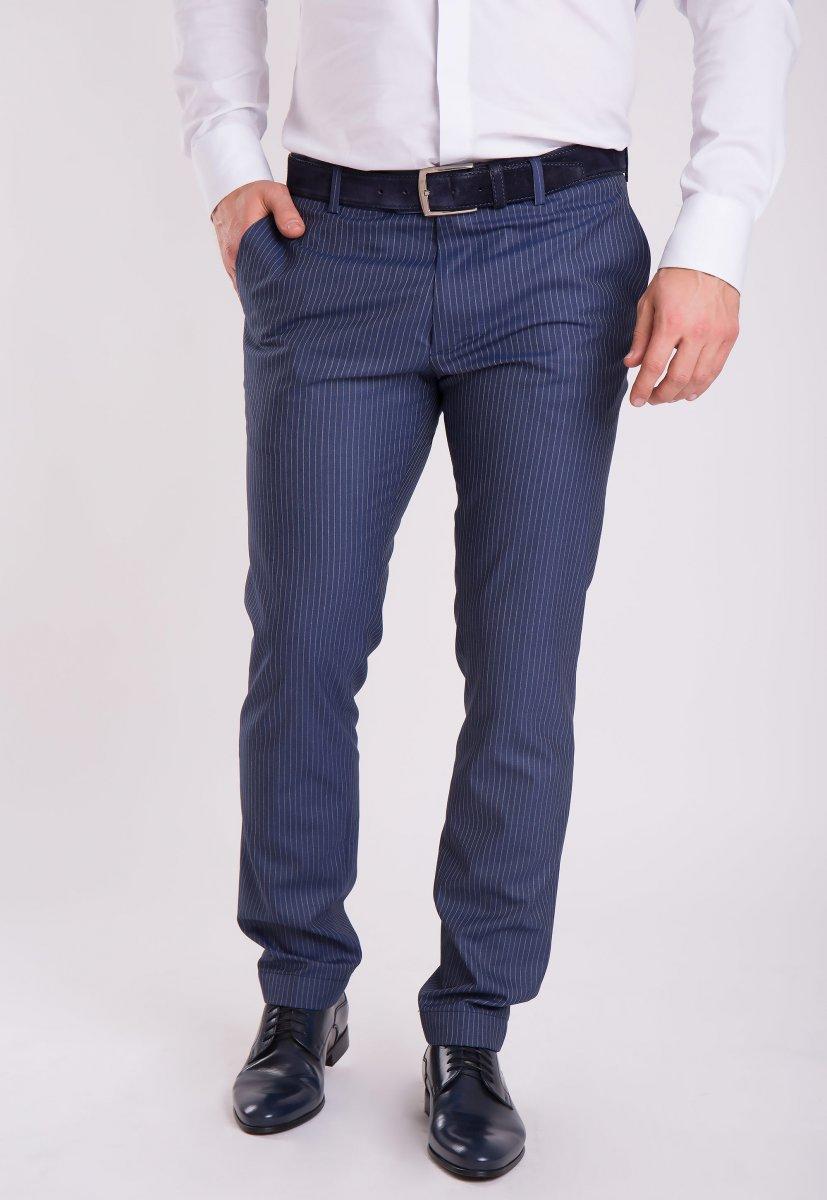 Брюки Trend Collection G838-1 Синий + полоска