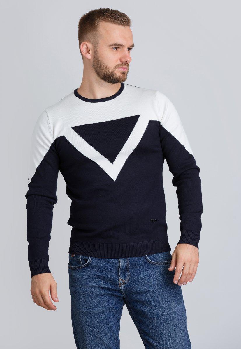 Свитер Trend Collection 7028 Темно-синий+белый