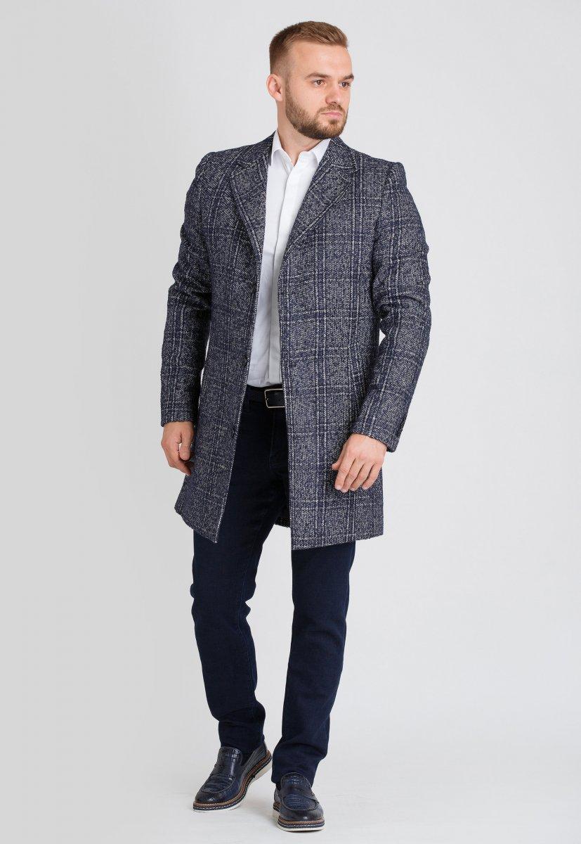 Пальто Trend Collection 553 Синий + белый