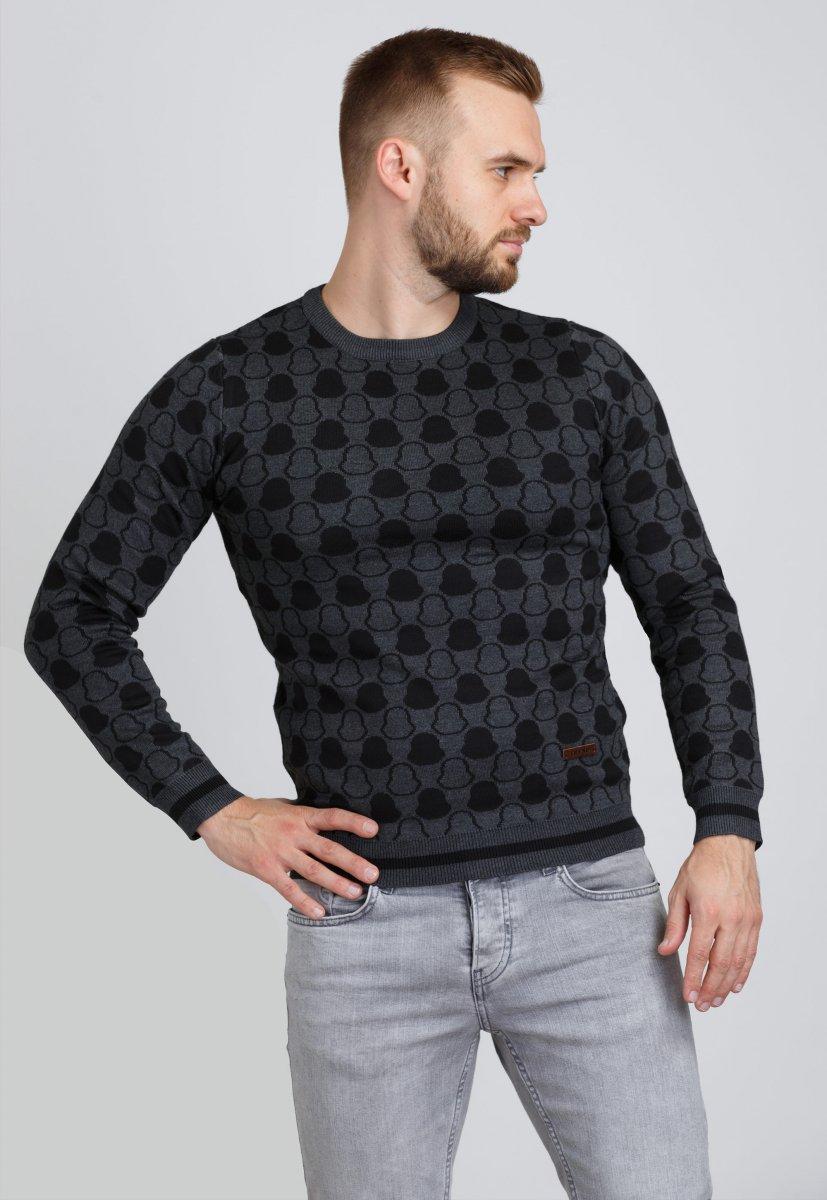 Свитер Trend Collection 9550 Темно-серый+черный