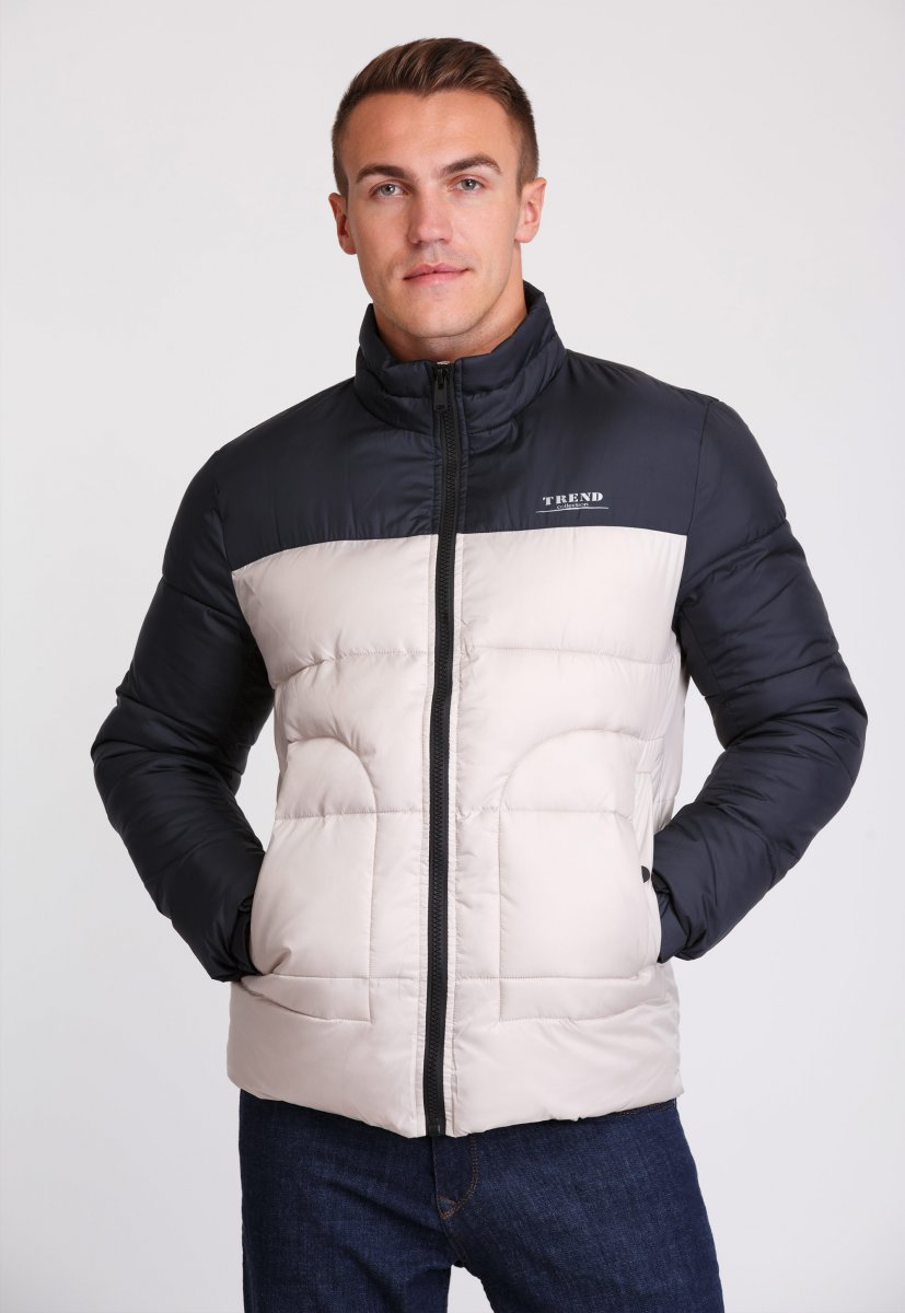 Куртка Trend Collection 20-36 Бежевый+синий