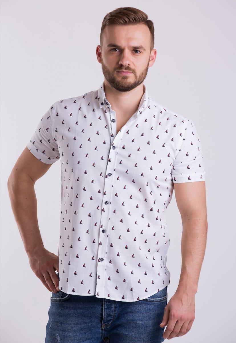 Рубашка Trend Collection TG0007 Белый + кораблики