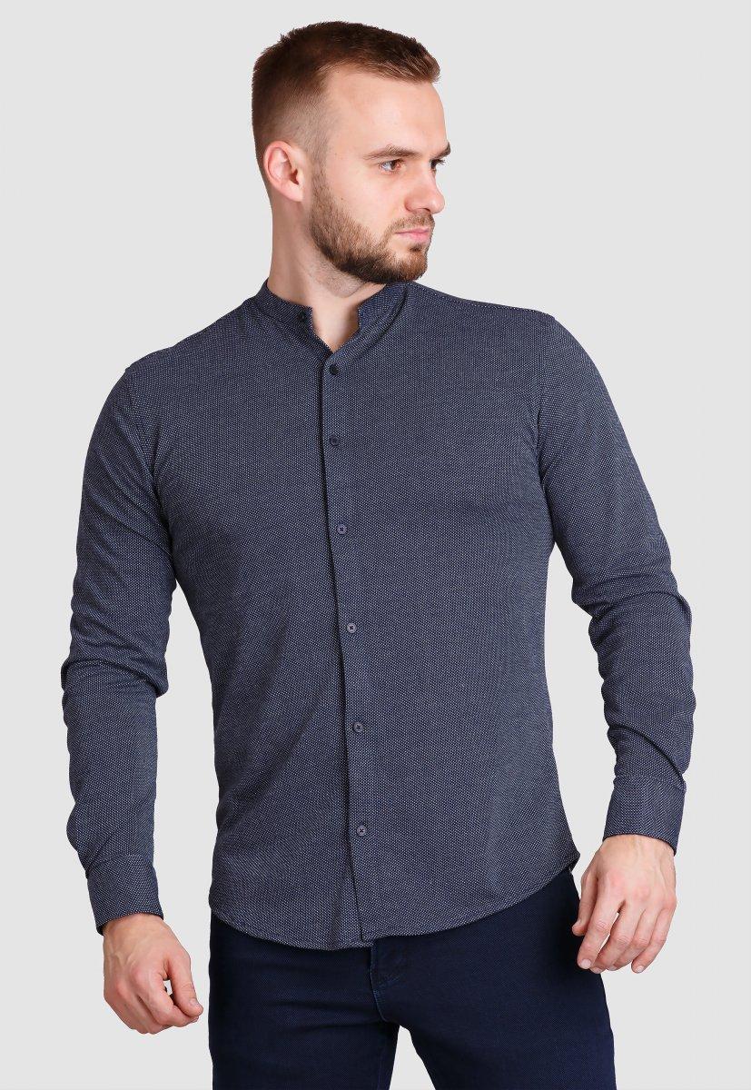 Рубашка Trend Collection 19049 Темно-синий+белая точка