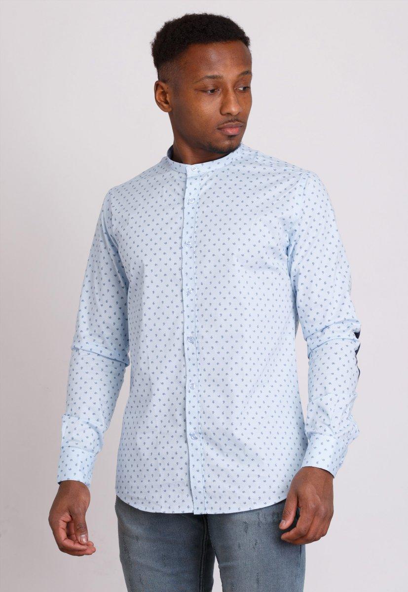Рубашка мужская Trend Collection 0806 Небесный+синий
