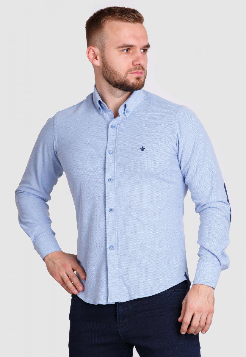 Рубашка Trend Collection 2020 Небесный+ячейка