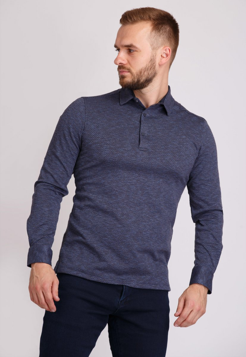 Джемпер Trend Collection 0001 Синий+коричневая точка