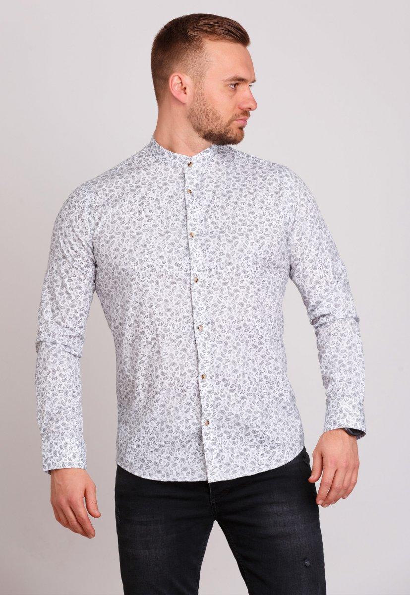 Рубашка Trend Collection 0808 Белый+серый
