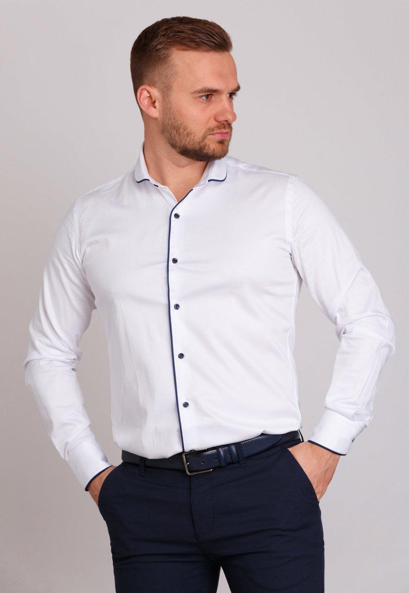 Рубашка Trend Collection 224 Белый+синий