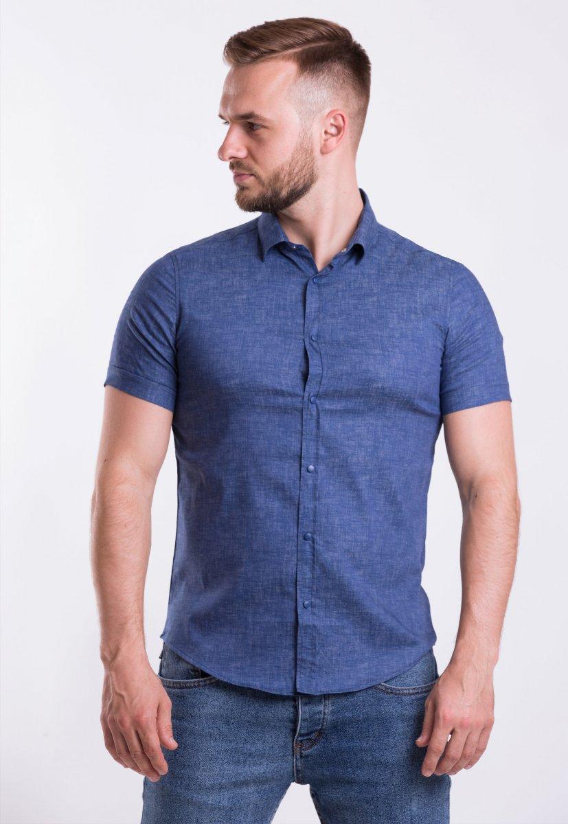 Рубашка Trend-Collection 18478 Синий джинс