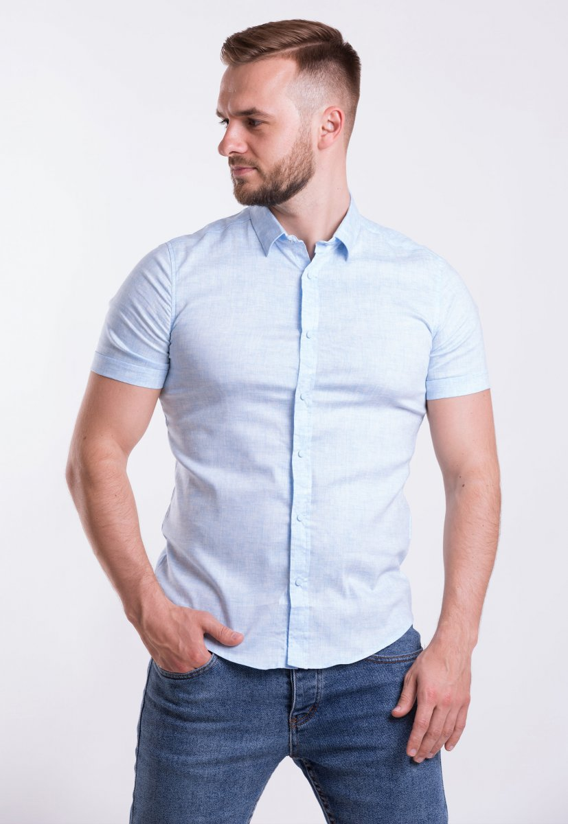 Рубашка Trend-Collection 18478 Небесный