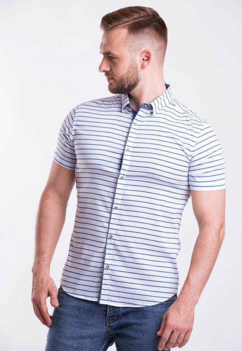 Рубашка Trend-Collection 18368 Белый + полоска