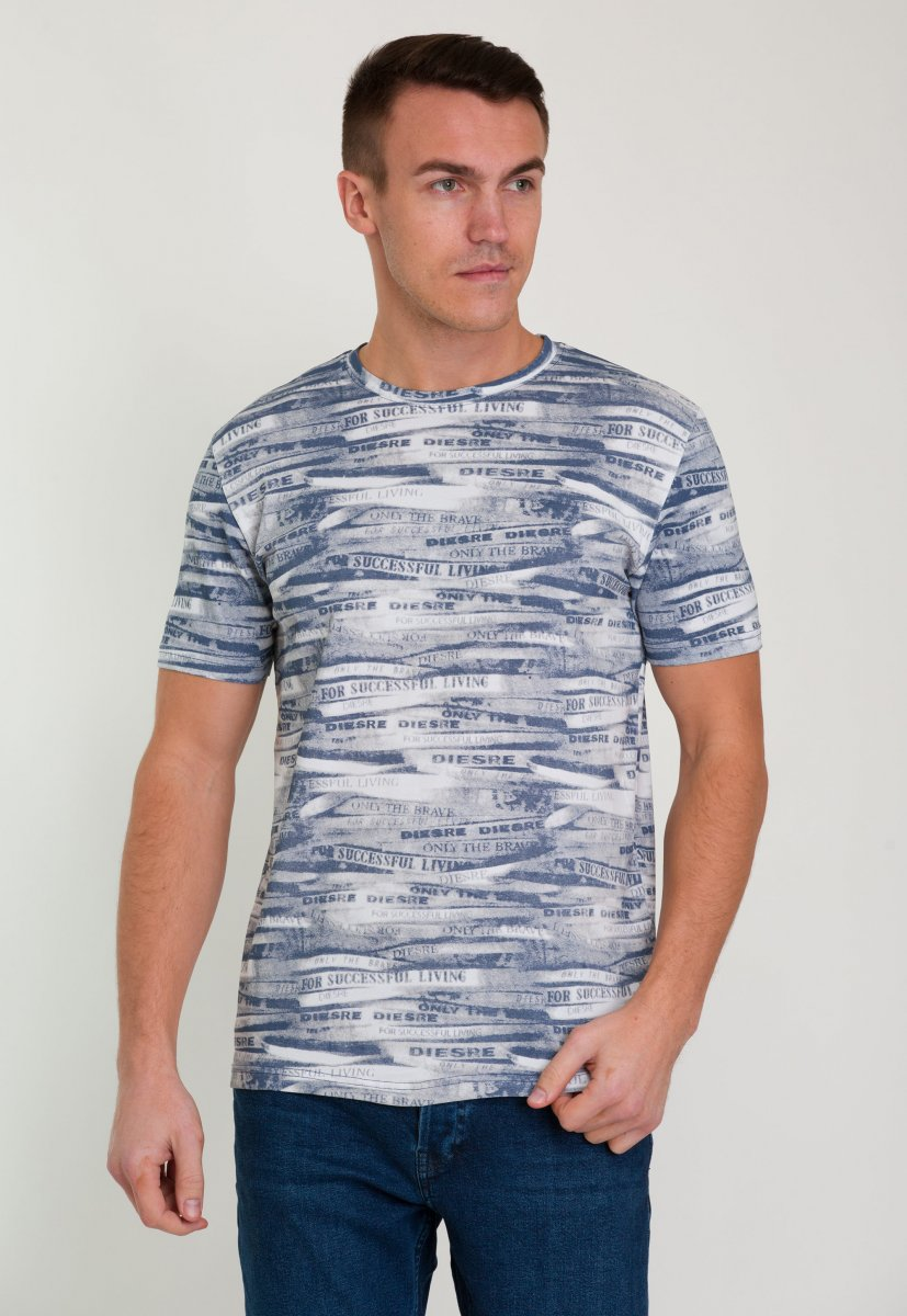 Футболка Trend Collection 8014 Синий+белый