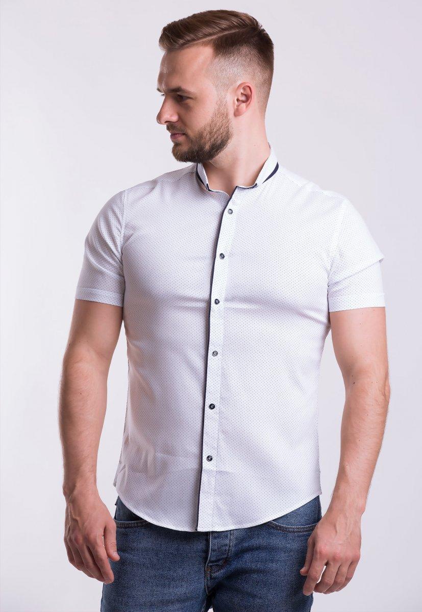 Рубашка Trend-Collection 18402 Белый + точка