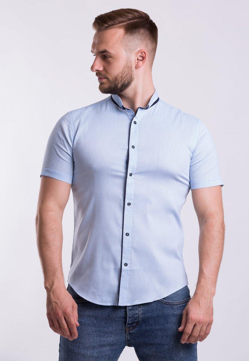 Рубашка Trend-Collection 18402 Небесный + горох