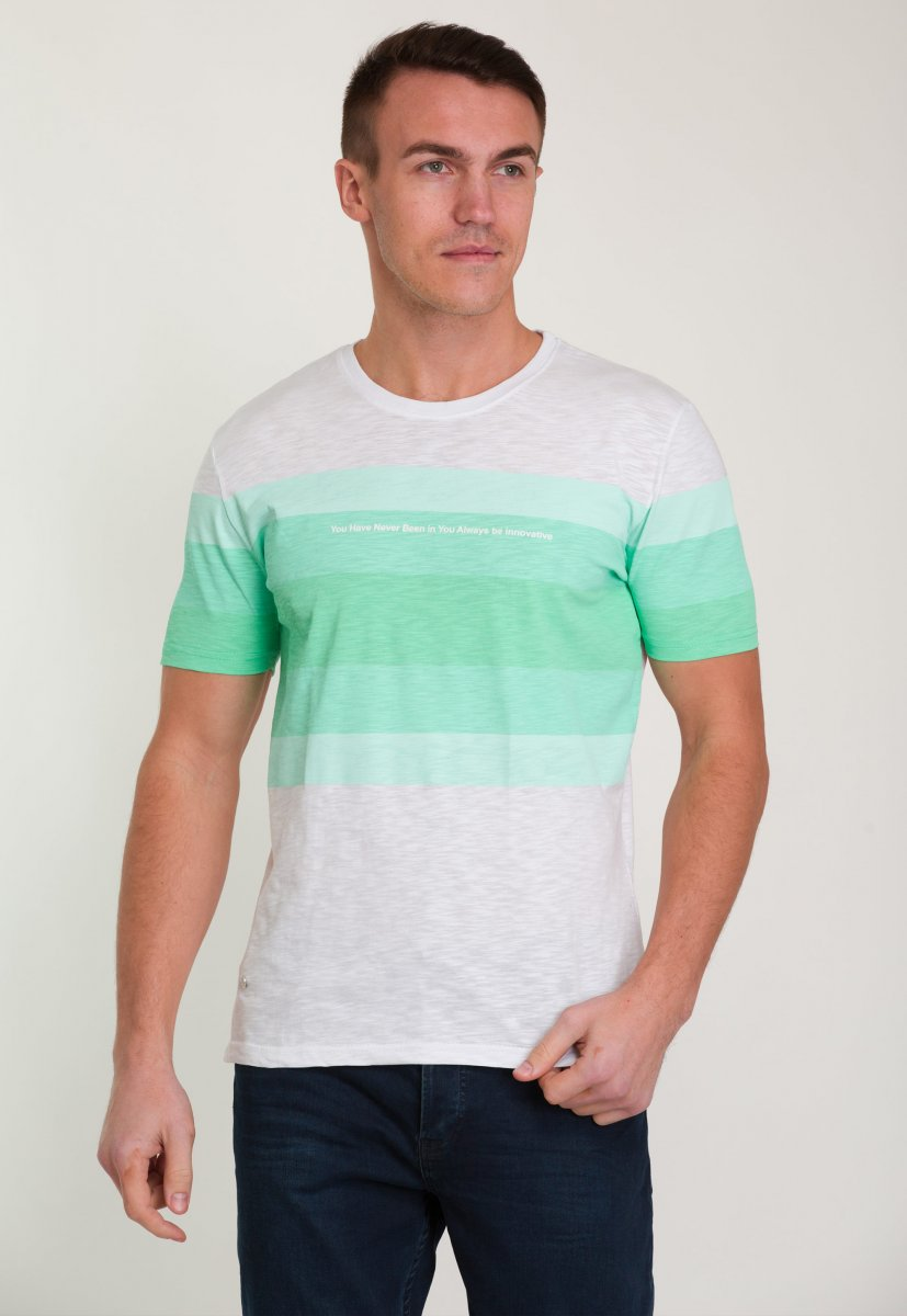 Футболка Trend Collection 8070 Белый+зеленый