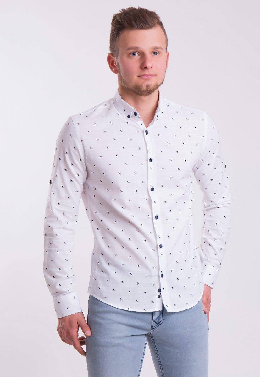 Рубашка Trend Collection 0005 Белый+кораблики (White)
