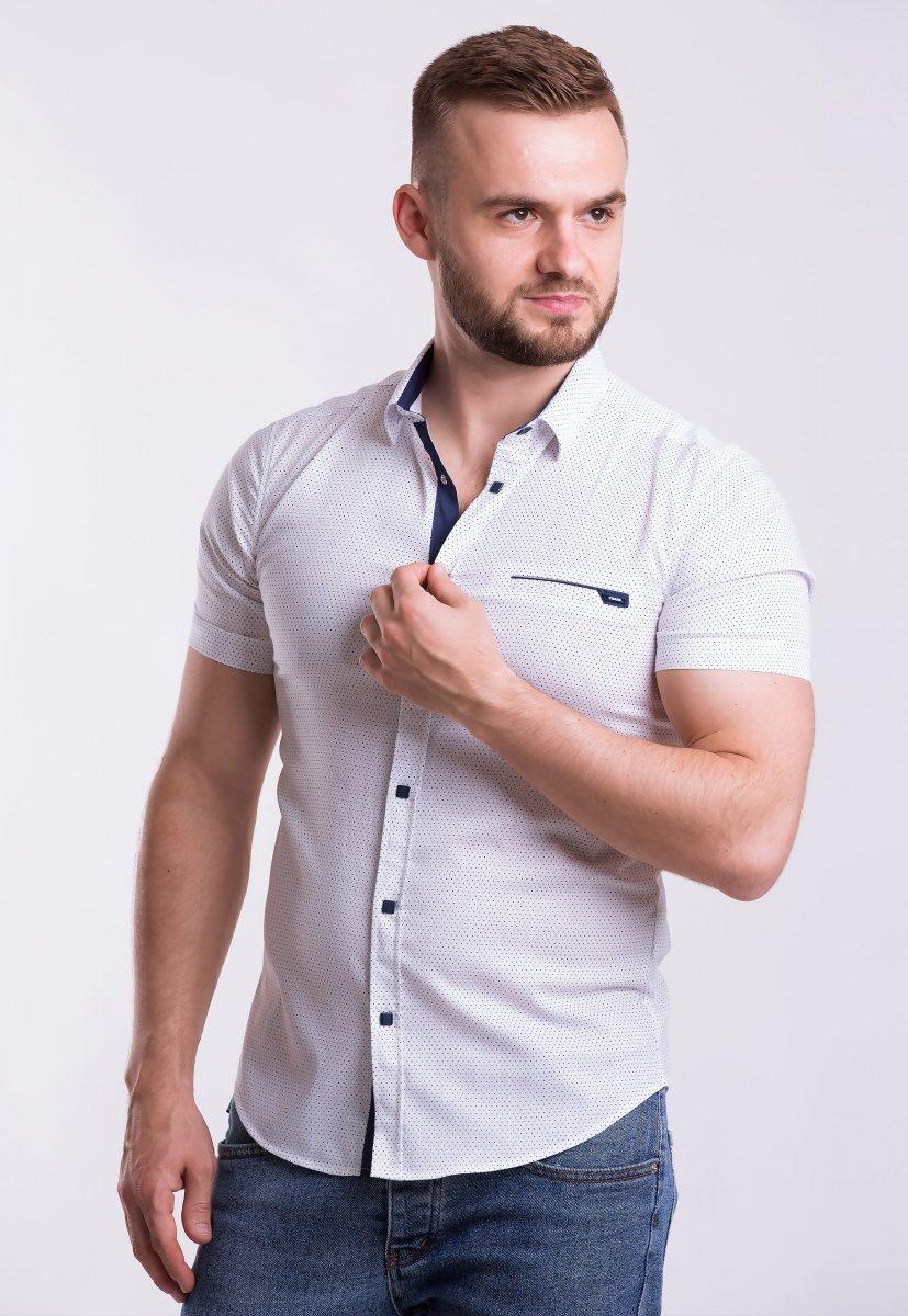 Рубашка Trend-Collection 18377-2 Белый + точка