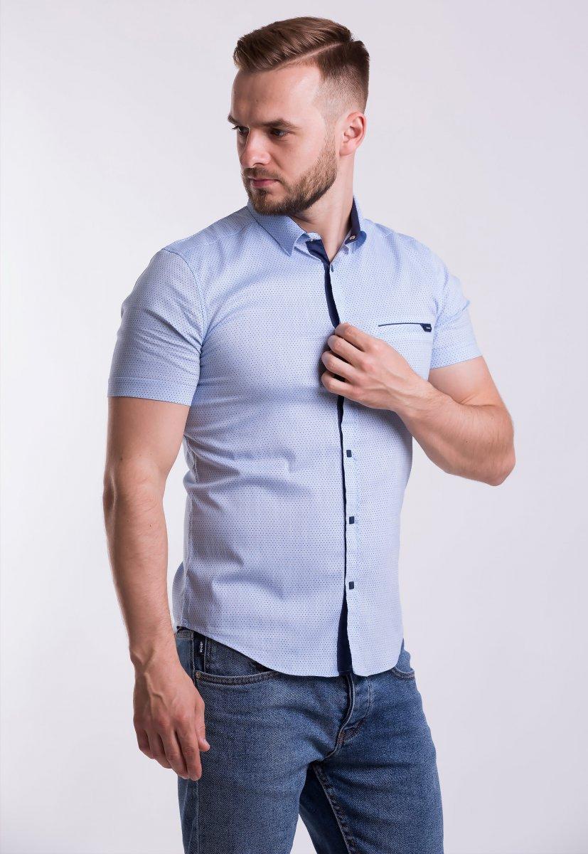Рубашка Trend-Collection 18377-2 Небесный + точка
