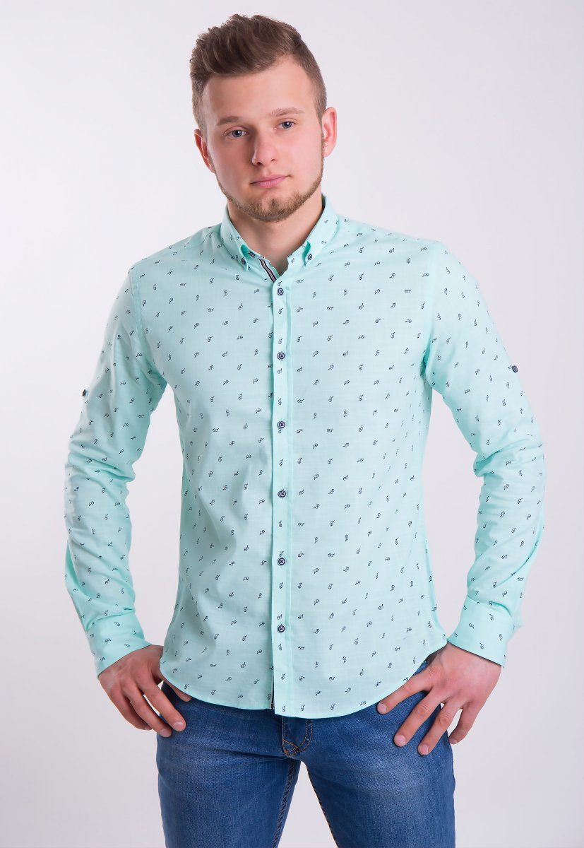 Рубашка Trend Collection 0004 Мята+очки (Green)