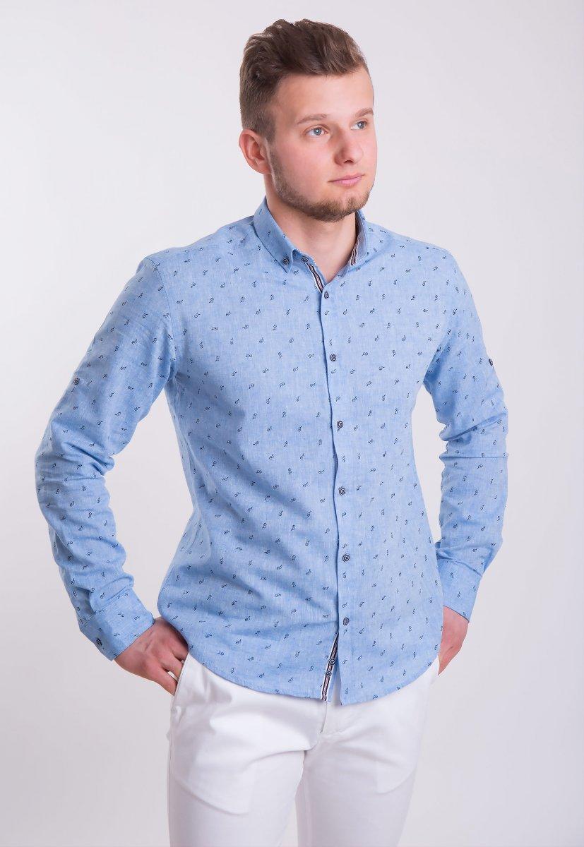 Рубашка Trend Collection Небесный+очки 0004 (Dark Blue)
