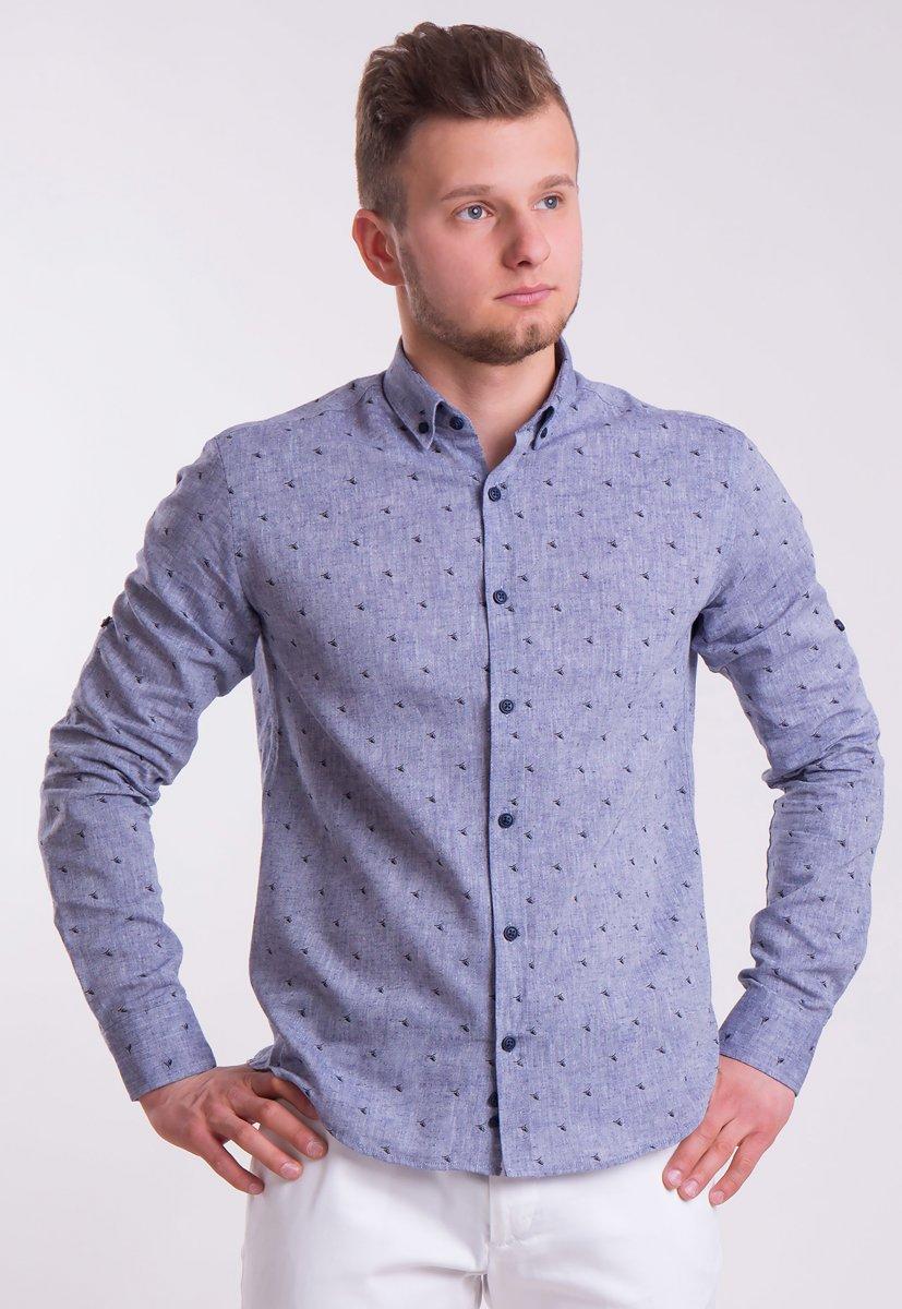 Рубашка Trend Collection 0005 Серый+кораблики (Grey)