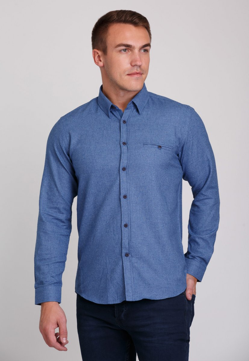 Рубашка Trend Collection 7007 Синий+небесная точка №7