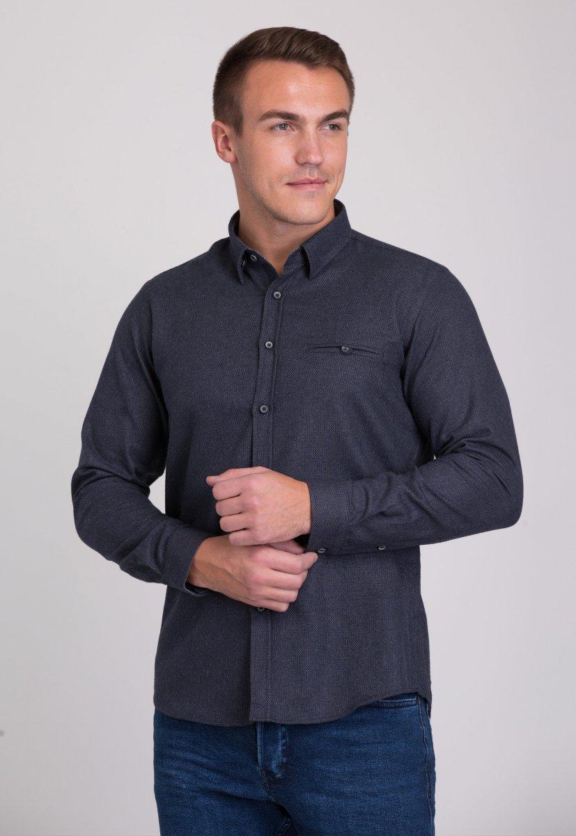 Рубашка мужская Trend Collection 7007 Серый №9
