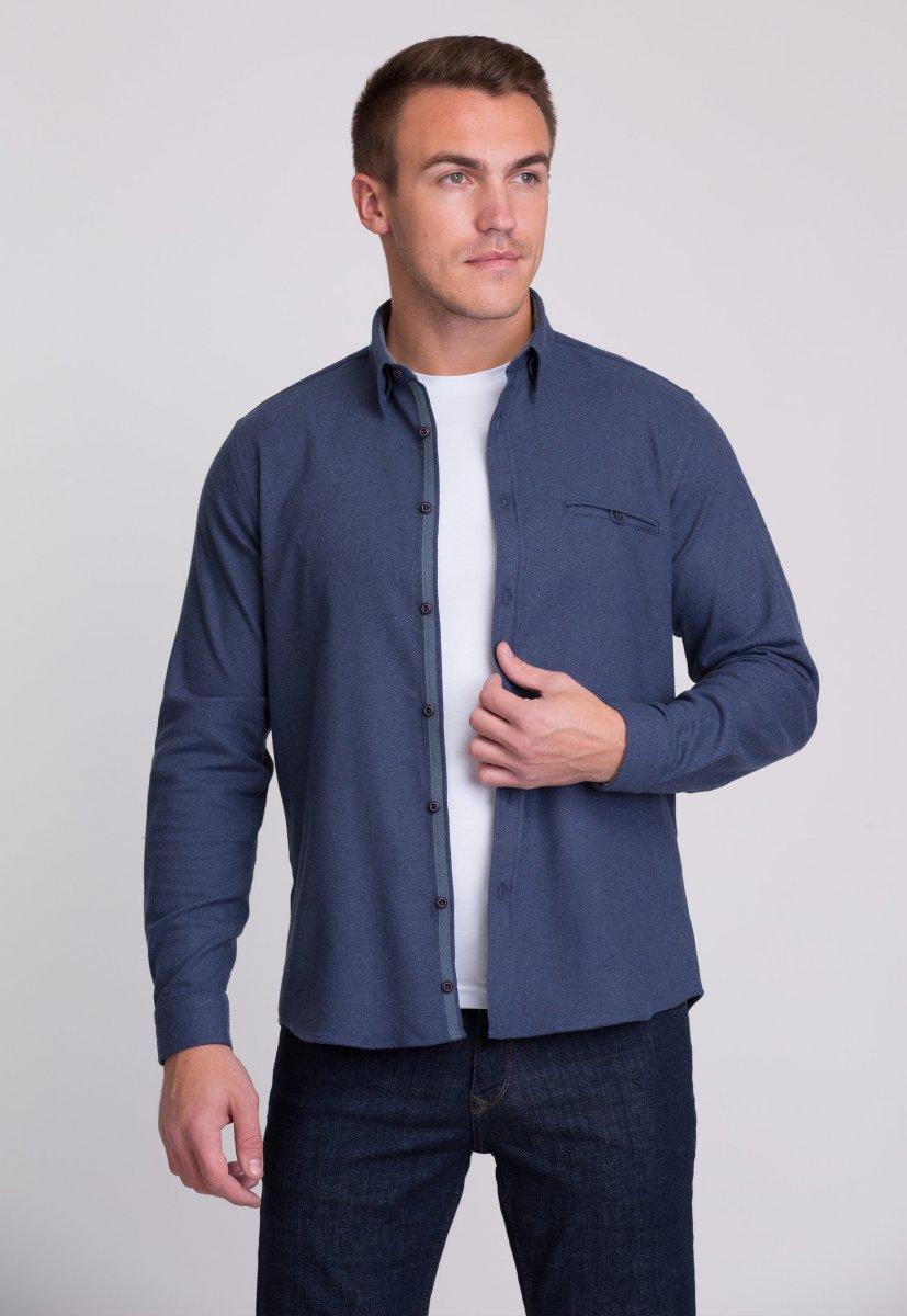 Рубашка мужская Trend Collection 7007 Синий