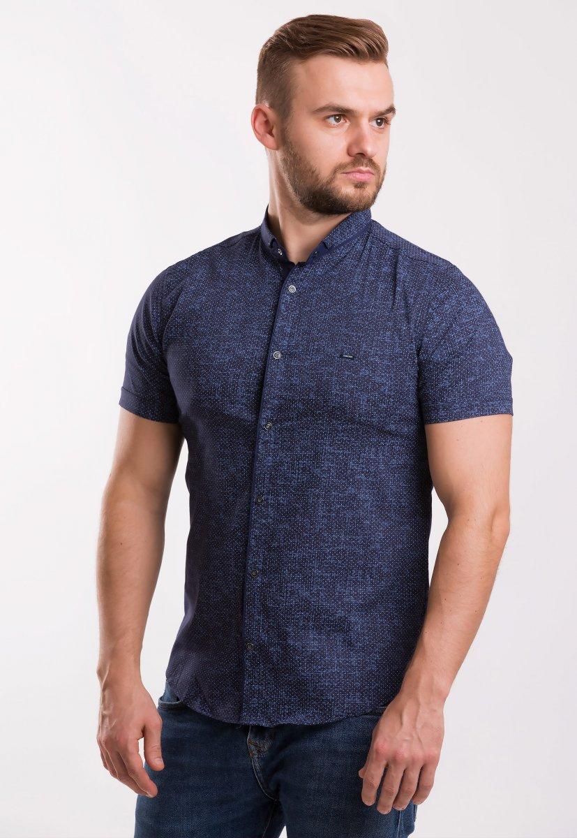 Рубашка TREND Синий + точка 18239