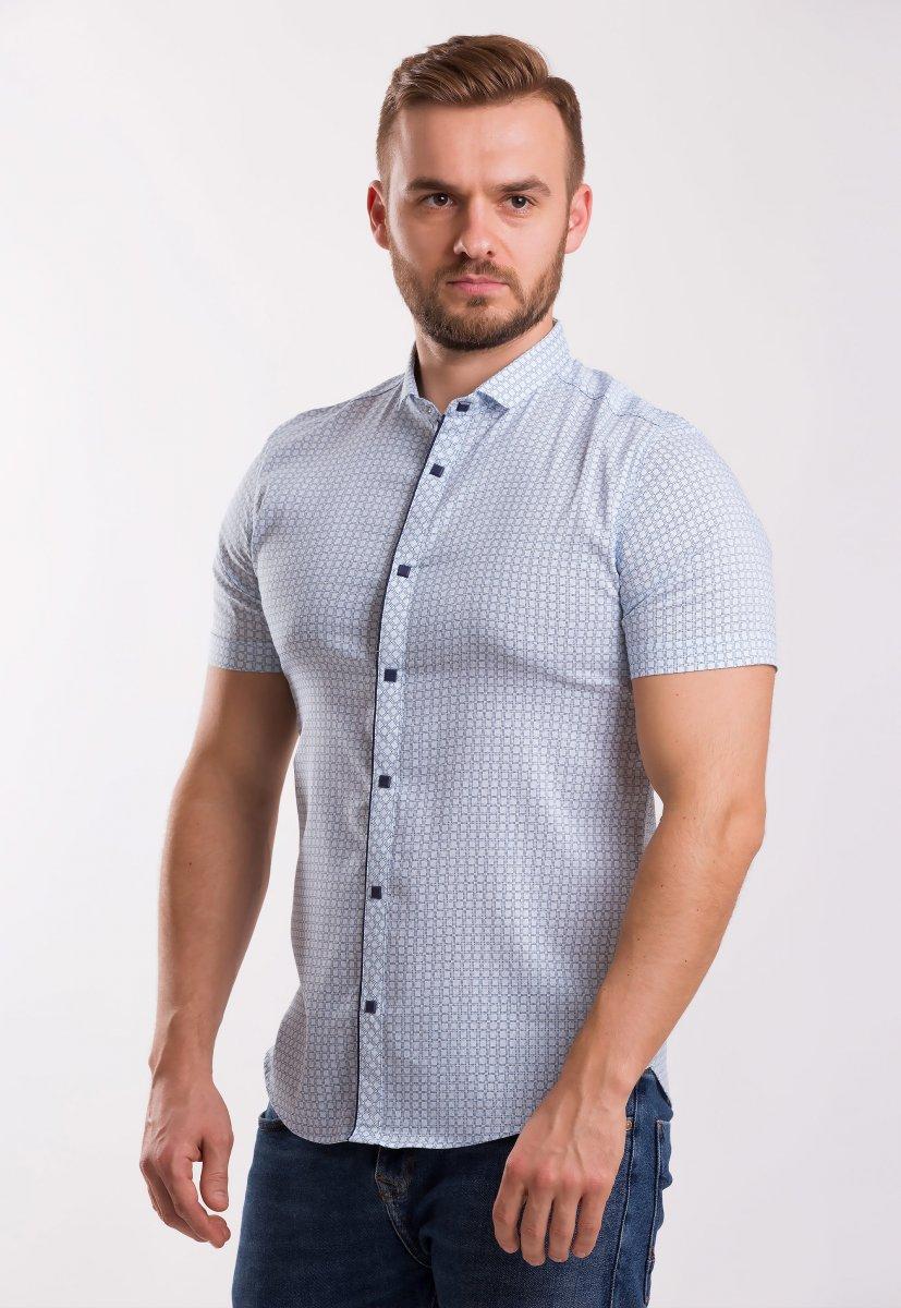 Рубашка TREND Светло-небесный + квадрат 18235