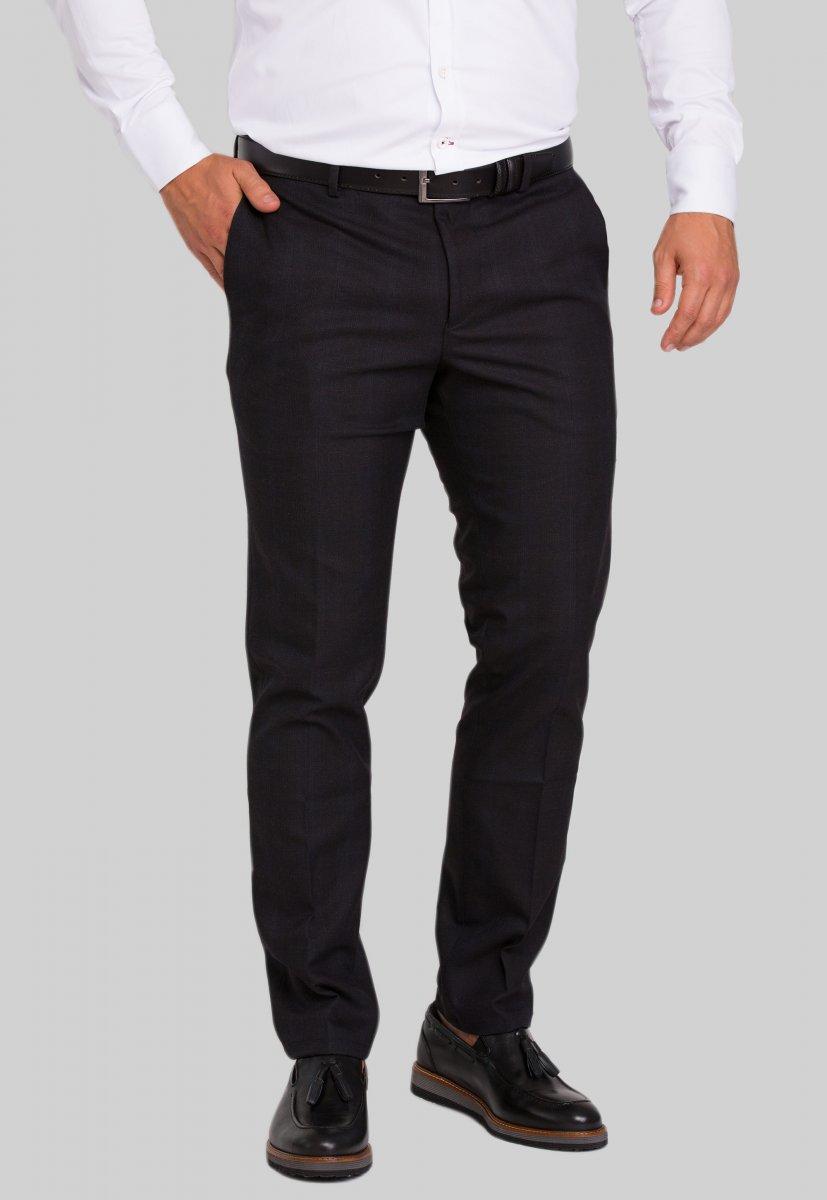 Брюки Trend Collection 974 Черный+синяя полоска №3