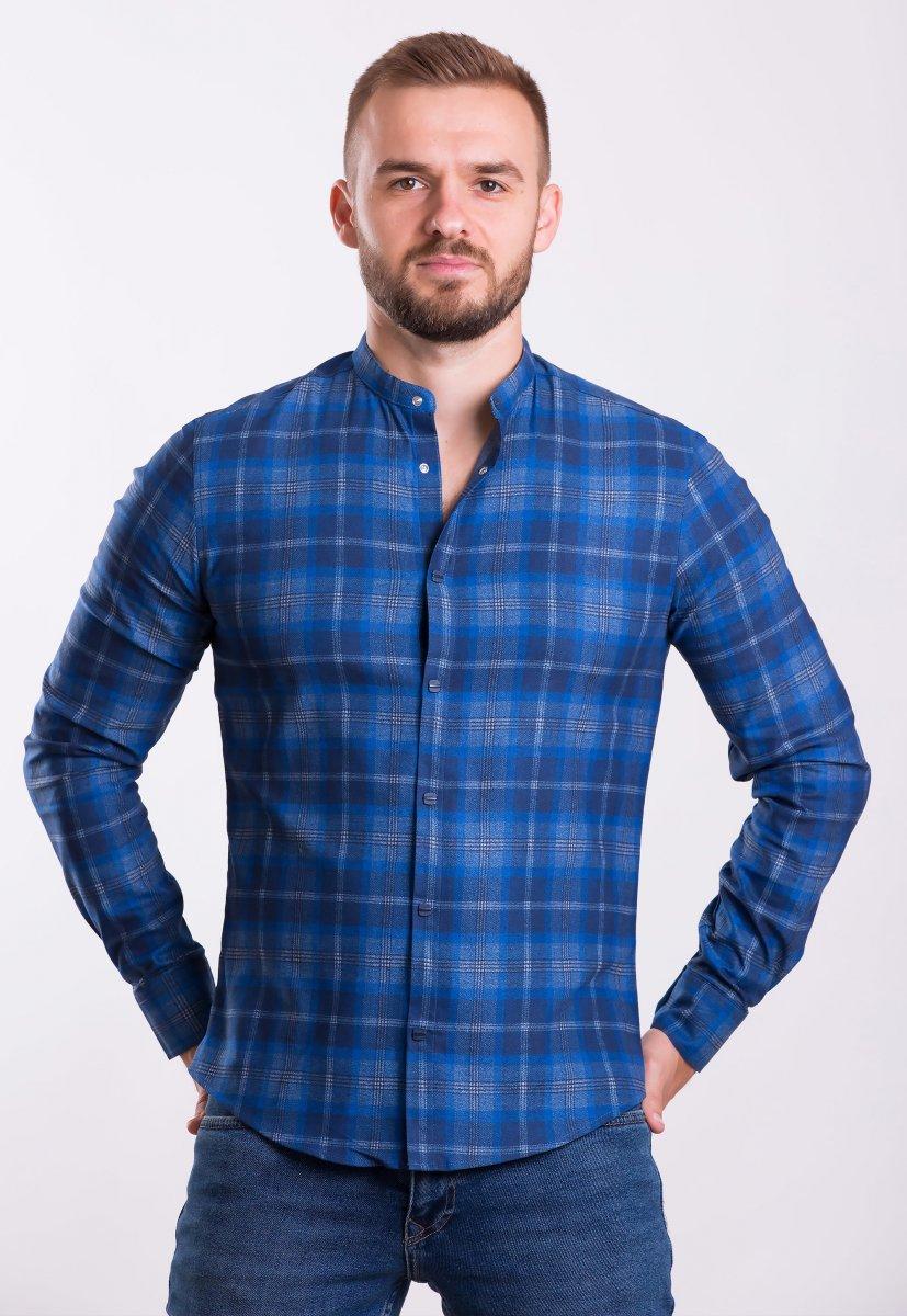 Рубашка TREND COLLECTION 19045 синяя клетка