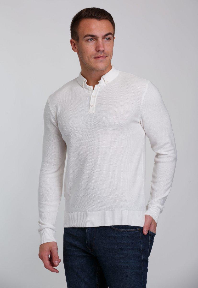 Джемпер Trend Collection 0262 Белый+пуговицы