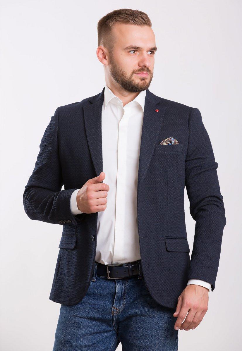 Пиджак Trend Collection 701 Синий+коричневый
