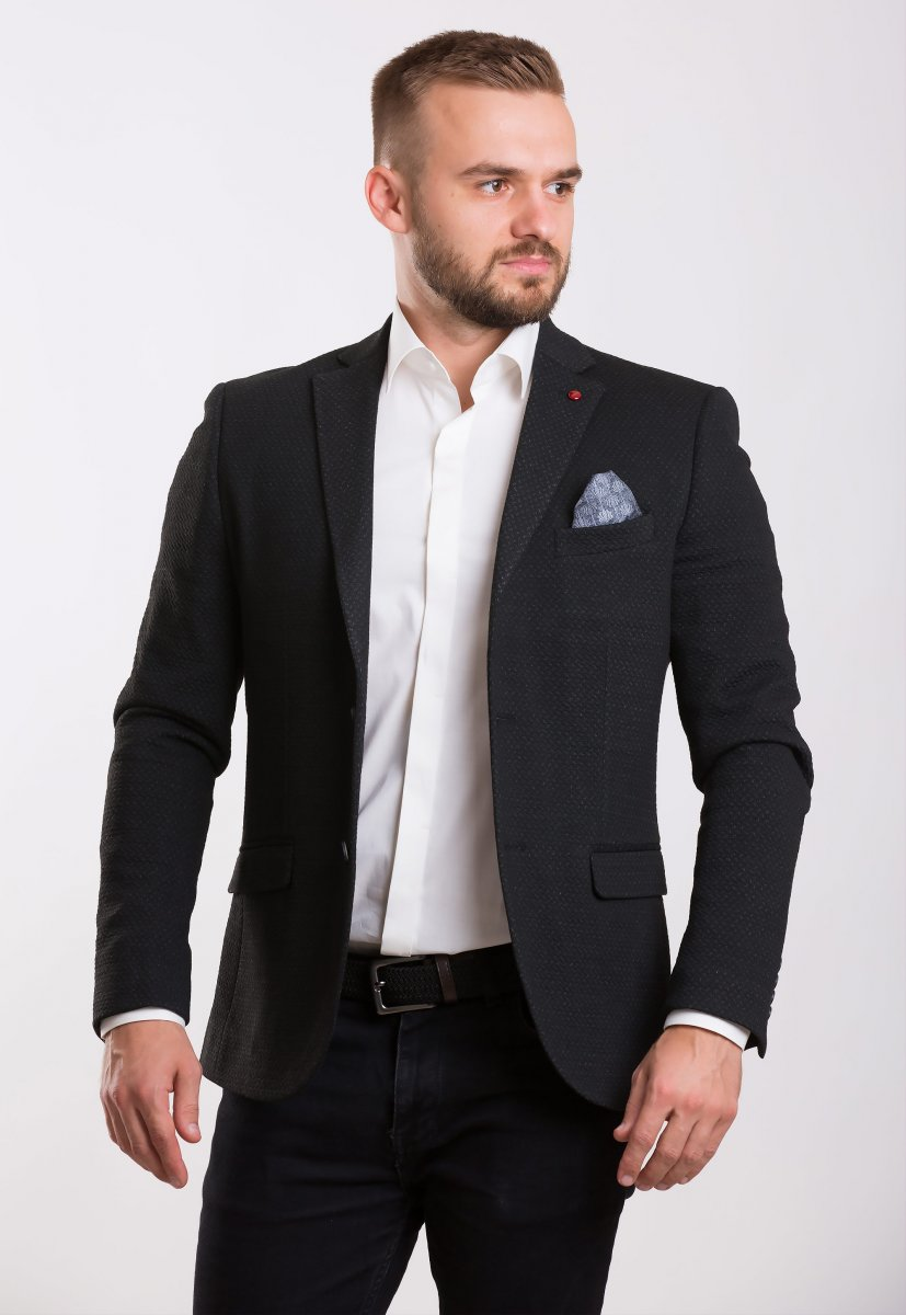 Пиджак Trend Collection 701 Черный+серый