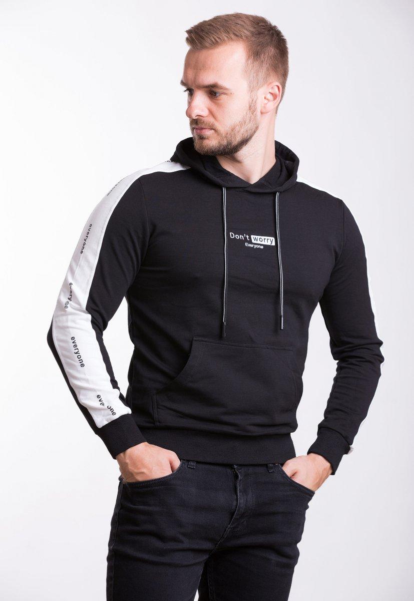 Реглан Trend Collection 39063 Черный+белая полоска