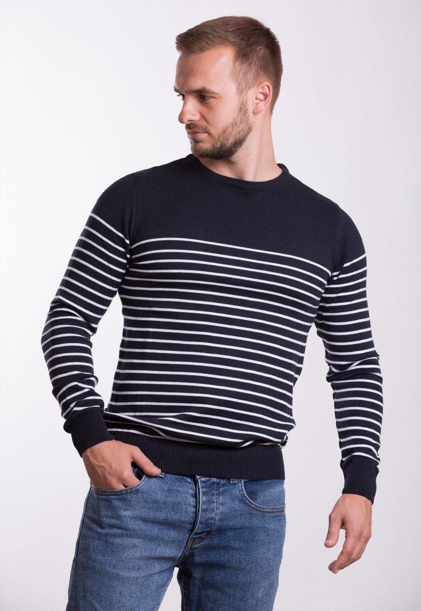 Свитер Trend Collection 7979 Темно-синий+белая полоска