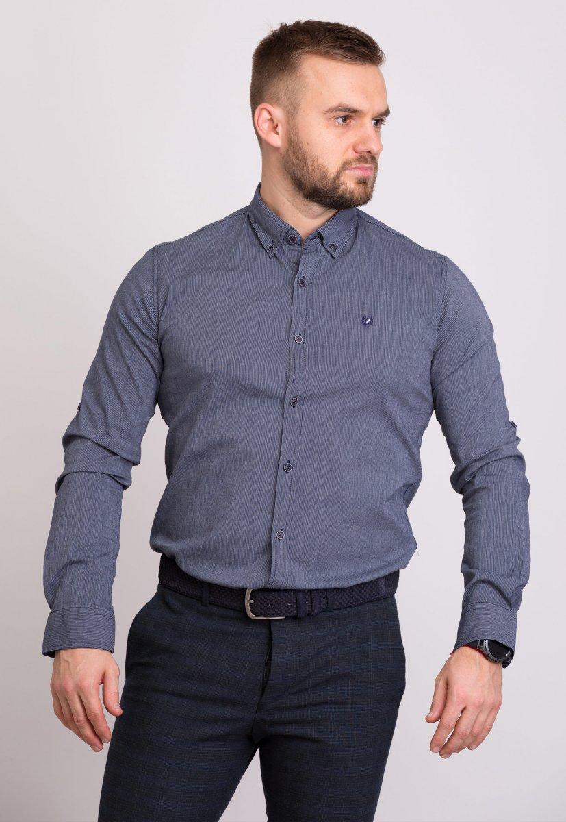 Рубашка Trend Collection 32299 Синий+серая полоска