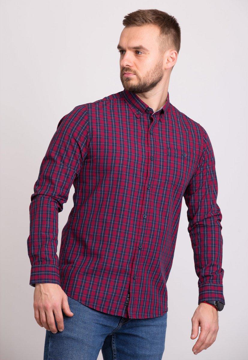 Мужская рубашка Trend Collection 32320 Бордо
