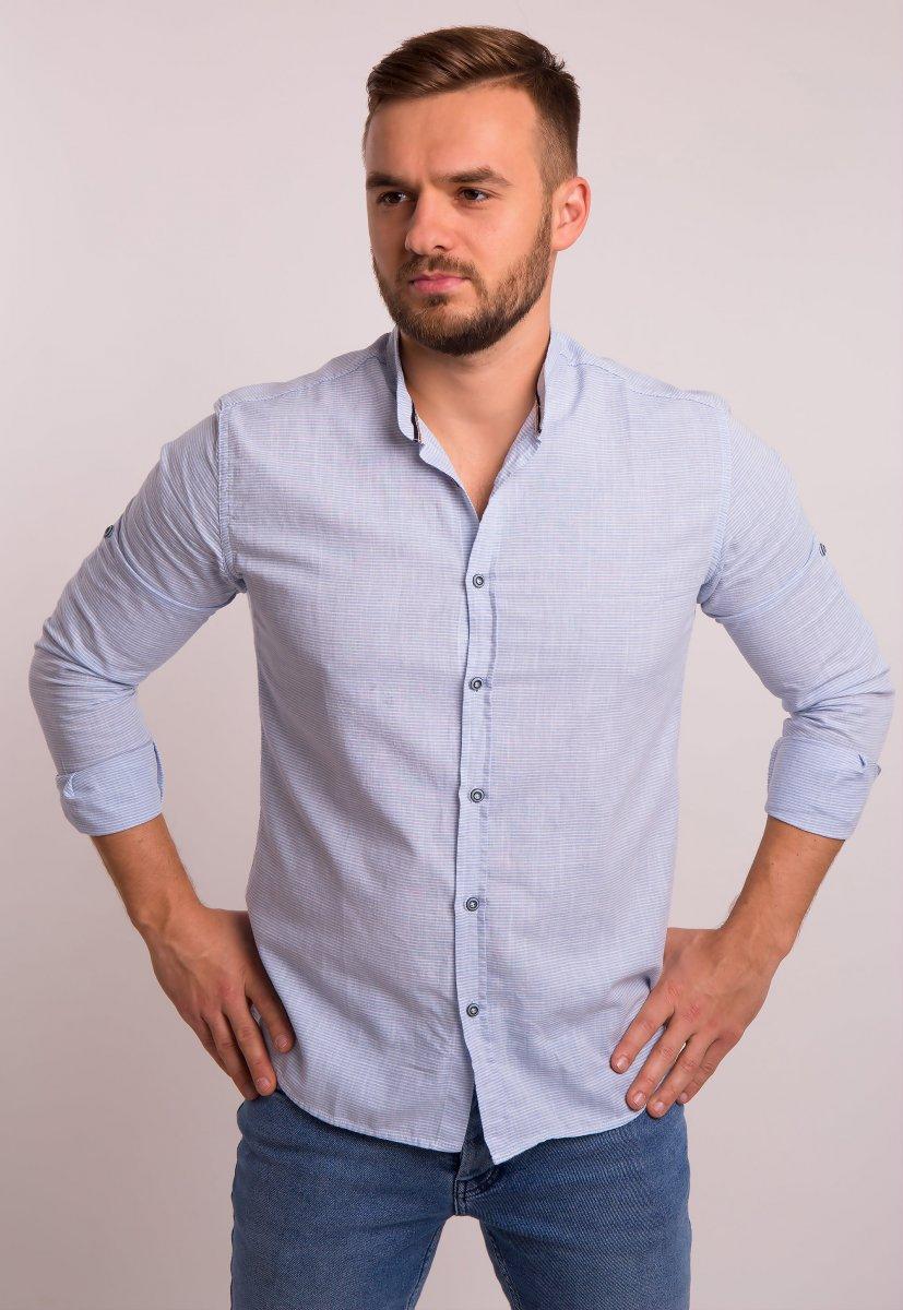 Рубашка Trend Collection 1608 Небесный + полоска